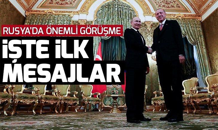 Başkan Erdoğan ve Putin'den önemli mesajlar