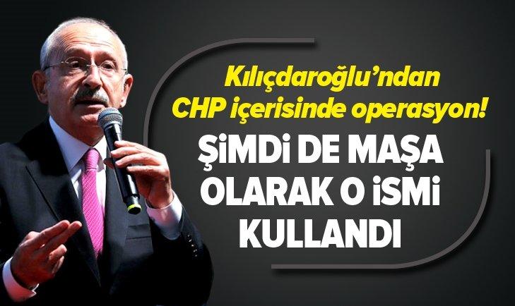 Kemal Kılıçdaroğlundan CHP içerisinde operasyon! Şimdi de maşa olarak Rahmi Turanı kullandı