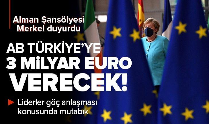 AB mülteciler için Türkiye'ye 3 milyar Euro verecek