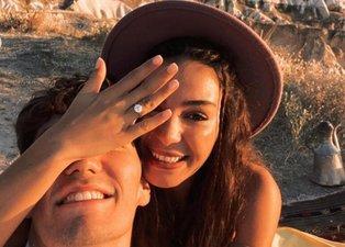 Cedi Osman'dan evlilik teklifi alan Ebru Şahin'in tektaşının fiyatı dudak uçuklattı