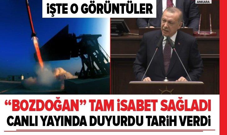 Erdoğan'dan Bozdoğan füzesi müjdesi!