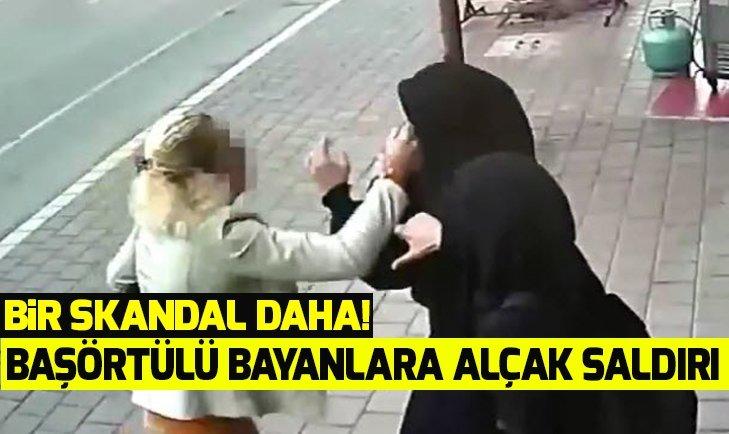 Adana Seyhan'da başörtülü kadınlara alçak saldırı