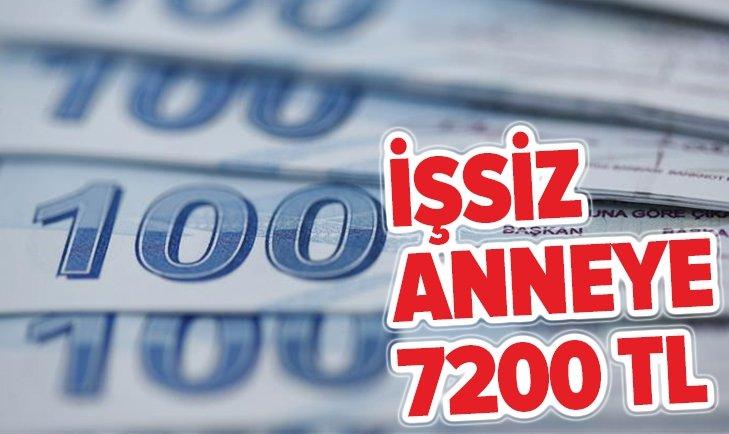 İŞKUR'DAN İŞSİZ ANNEYE 7200 TL HARÇLIK!