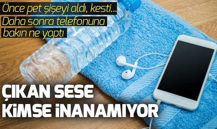 PET ŞİŞEYİ KESTİ, TELEFONUNA ÖYLE BİR ŞEY YAPTI Kİ...