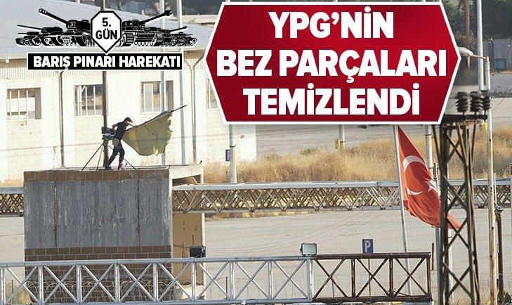 TEL ABYAD'DA YPG'NİN BEZ PARÇALARI YAKILDI