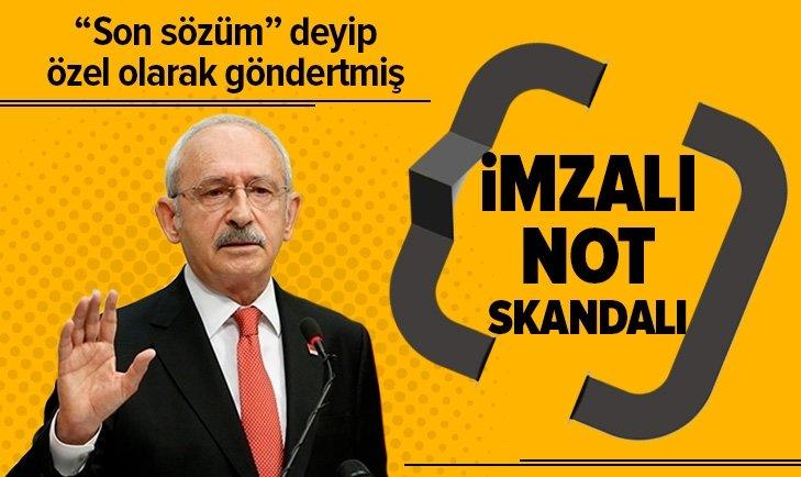 CHP'DE İMZALI NOT SKANDALI!