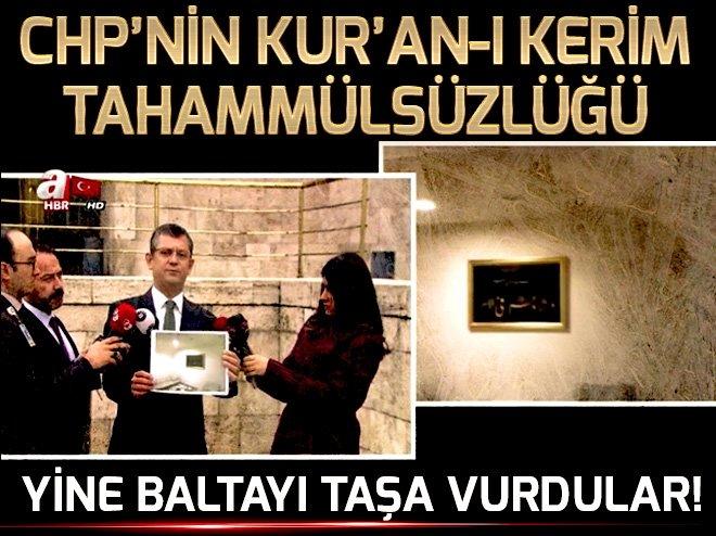 CHP BİR KEZ DAHA BALTAYI TAŞA VURDU!