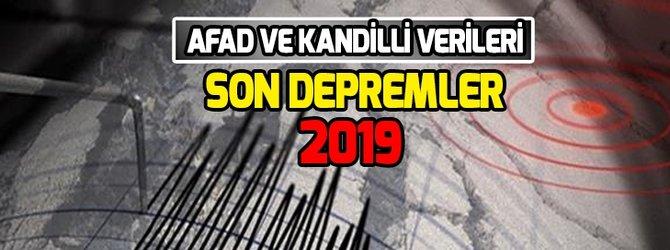 Türkiye'deki son depremler!