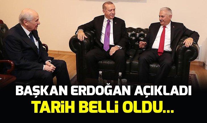 Başkan Erdoğan ile Devlet Bahçeli görüştü! Erdoğan ittifak görüşmesinin tarihini açıkladı