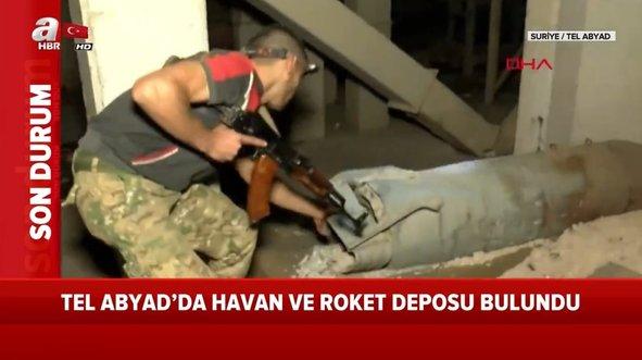 Terör örgütüne ait roket ve havan deposu bulundu