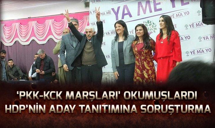 HDP'NİN ADAY TANITIMINA SORUŞTURMA