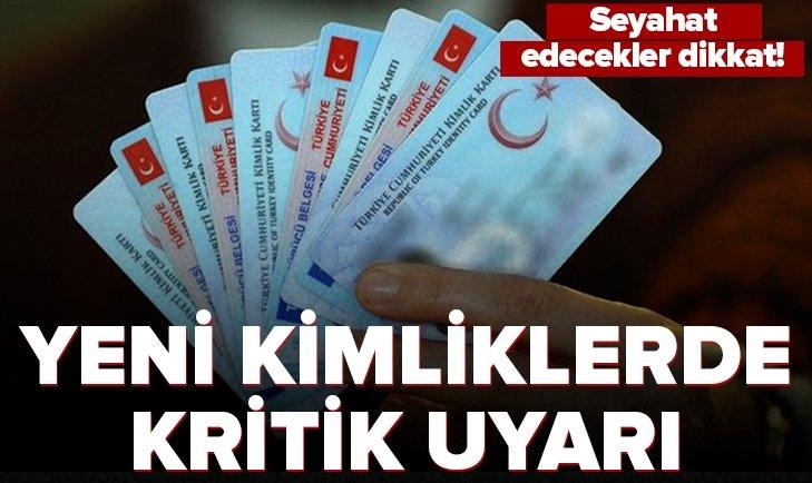 Seyahat edeceklere yeni kimlik kartı uyarısı! 1 Ekim'den itibaren yurt dışına çıkacaklar dikkat!  Yeni kimlik kartı nasıl çıkarılır?