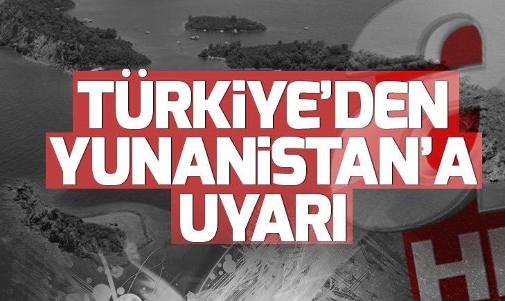 TÜRKİYE'DEN YUNANİSTAN'A ÇAĞRI