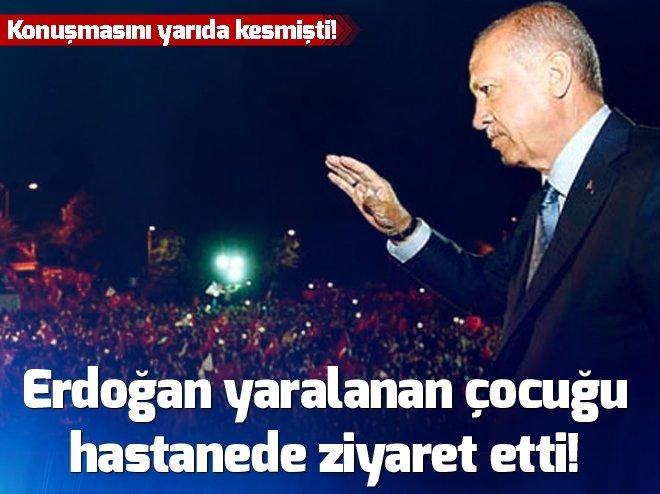 Cumhurbaşkanı Erdoğan yaralanan çocuğu hastanede ziyaret etti