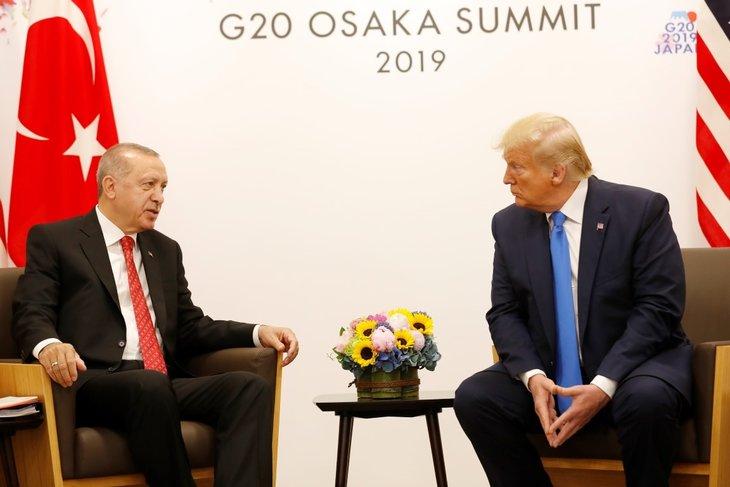 Erdoğan-Trump görüşmesinden fotoğraflar