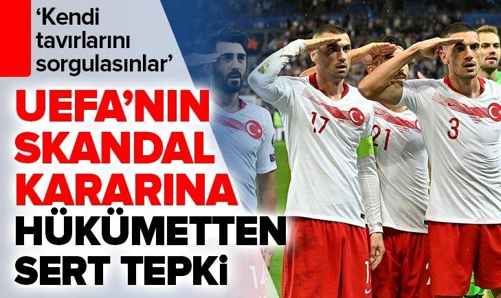 UEFA'NIN SKANDAL KARARINA HÜKÜMETTEN SERT TEPKİ