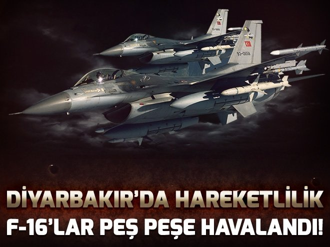 F-16'LAR PEŞ PEŞE HAVALANDI