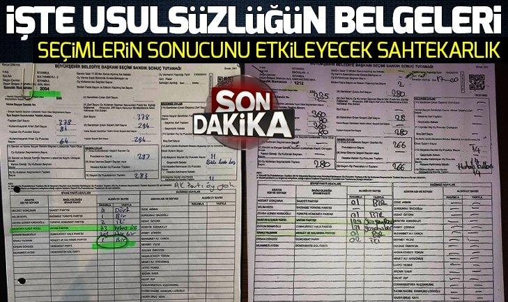 İşte İstanbul'daki usulsüzlüğün belgeleri!
