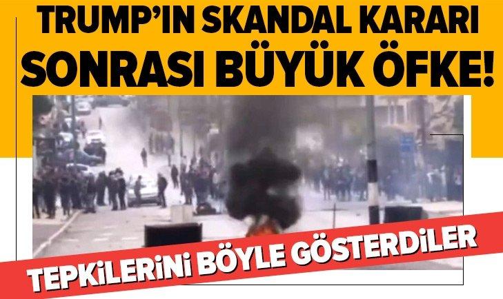 FİLİSTİNLİLERDEN PROTESTO! TRUMP'IN KAOS PLANINA KARŞI...