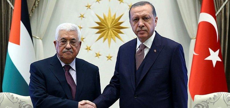 Son dakika: Başkan Erdoğan Filistin Devlet Başkanı Abbas ile telefonda görüştü