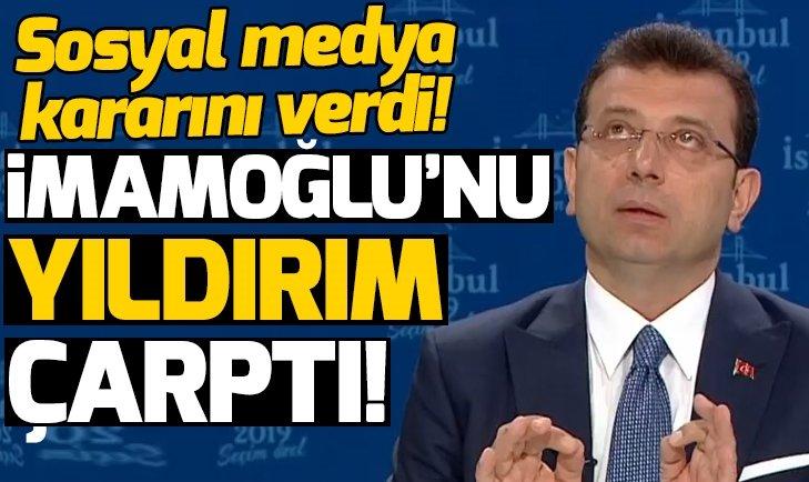 CHP adayı Ekrem İmamoğlu'nun canlı yayında 'Yıldırım' çarptı!