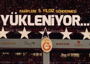 Galatasaray'dan rakiplerine 5.yıldız göndermesi