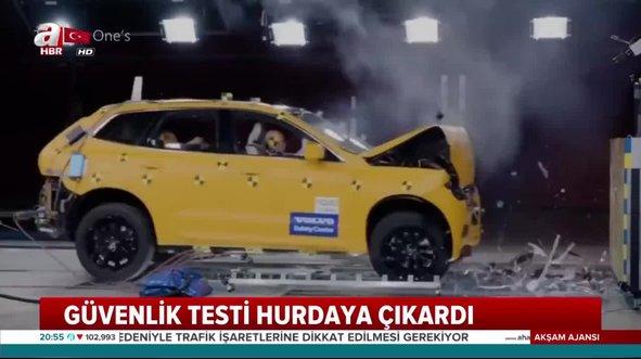 Otomobillerin güvenlik testi! 1 milyonluk araç testi geçemedi...