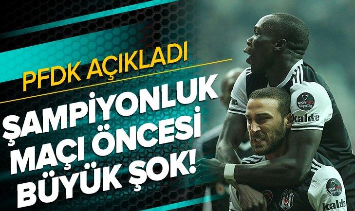 Beşiktaş'a iki şok birden! Cenk Tosun ve Aboubakar, PFDK'ya sevk edildi