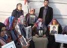 HDP önündeki evlat nöbetine Karadenizli muhtarlardan destek