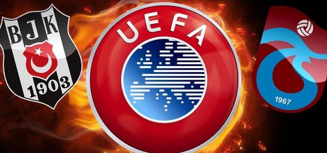 UEFA'DAN BEŞİKTAŞ VE TRABZONSPOR'A ŞOK!