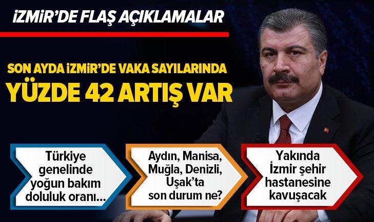 Sağlık Bakanı Koca'dan İzmir'de flaş açıklamalar