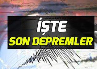 İstanbul son dakika deprem 2019! Kandilli Rasathanesi son depremler! AFAD son depremler!