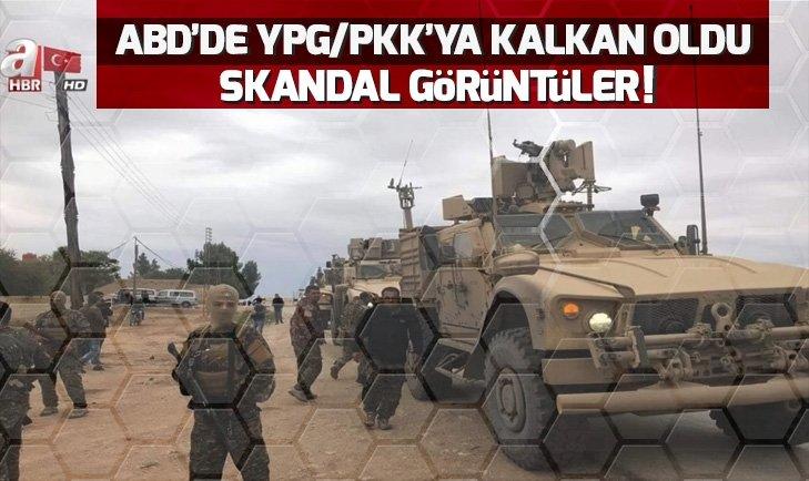 ABD TERÖR ÖRGÜTÜ YPG/PYD'YE KALKAN OLDU! SKANDAL GÖRÜNTÜLER