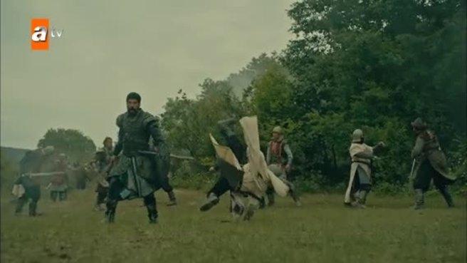 Kuruluş Osman sezon finaline damga vuran sahne! Osman Bey savaşın kaderini böyle değiştirdi
