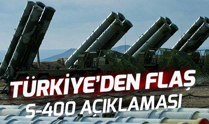 TÜRKİYE'DEN FLAŞ S-400 FÜZELERİ AÇIKLAMASI!