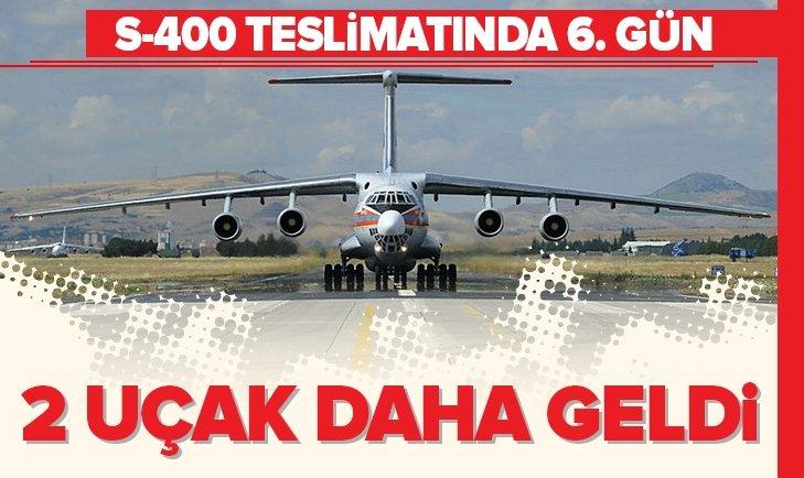 S-400'LERİ TAŞIYAN 14. RUS UÇAĞI MÜRTED'E İNDİ