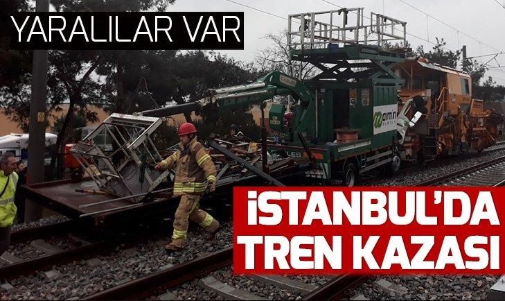 SON DAKİKA: İSTANBUL'DA TREN KAZASI