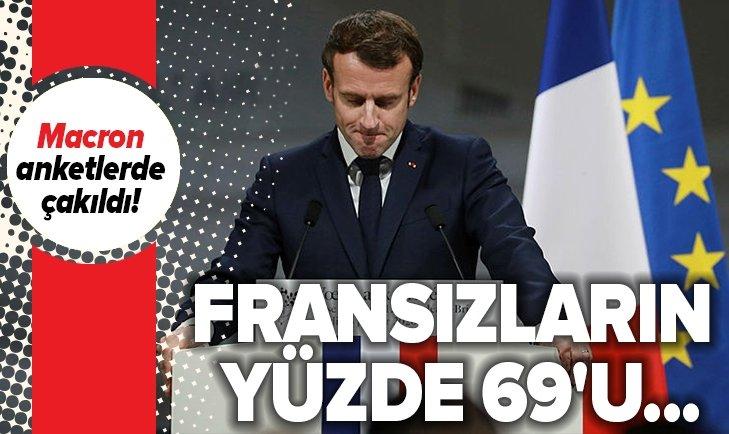MACRON ANKETLERDE ÇAKILDI! FRANSIZLARIN YÜZDE 69'U...
