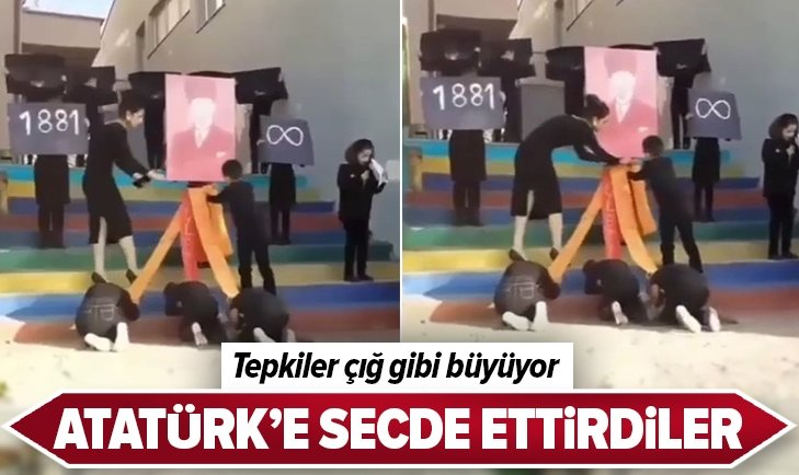 ATATÜRK'E SECDE ETTİRDİLER! TEPKİLER ÇIĞ GİBİ...
