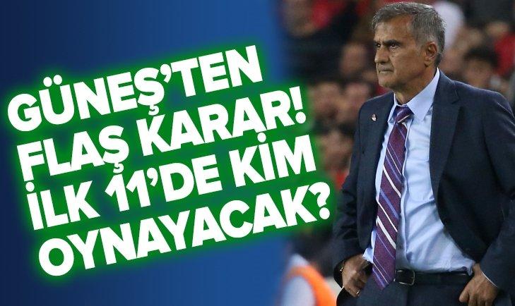 İŞTE TÜRKİYE'NİN FRANSA KARŞISINDAKİ İLK 11'İ!