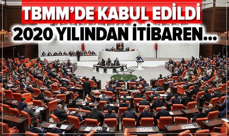 BAKANLIKLARIN 2020 BÜTÇELERİ KABUL EDİLDİ