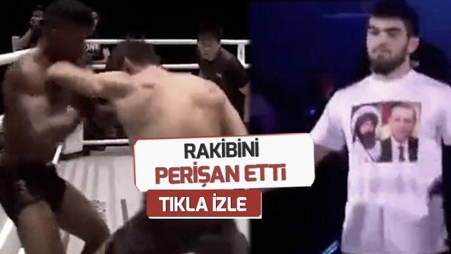 Ringe Başkan Erdoğan tişörtüyle çıktı! Rakibini perişan etti