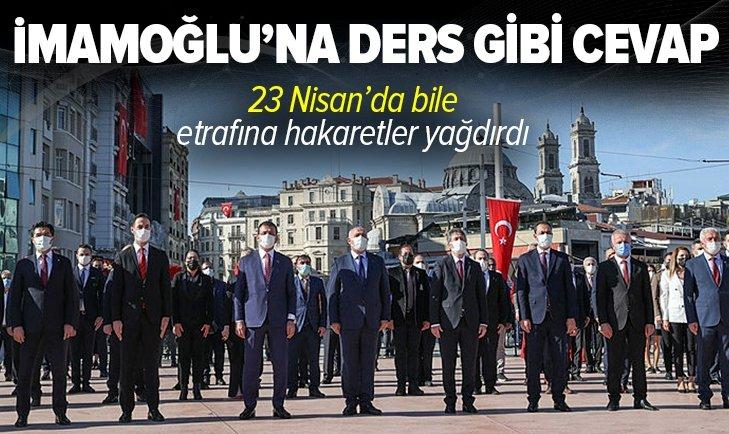CHP'li İBB Başkanı Ekrem İmamoğlu 23 Nisan'da provokasyona kalkıştı! İstanbul Valiliği'nden İmamoğlu'na ders gibi cevap