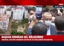 Başkan Erdoğan sel bölgesinde incelemelerde bulundu