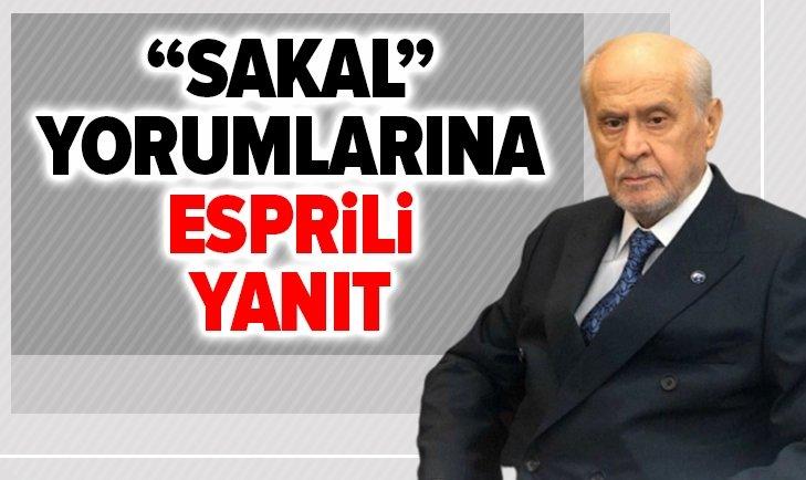 BAHÇELİ'DEN SAKAL YORUMLARINA ESPRİLİ YANIT!