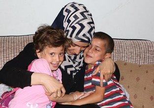 Suriyeli anne savaşın ayırdığı çocuklarına kavuştu
