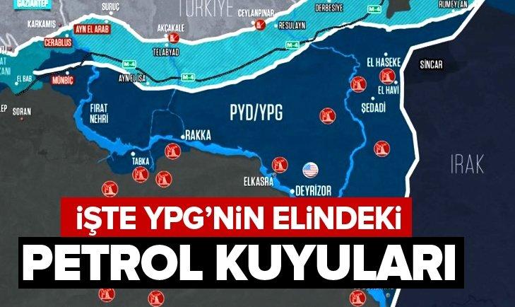 İŞTE YPG'NİN ELİNDEKİ PETROL KUYULARI