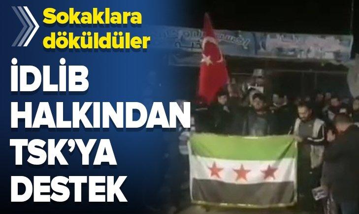 İDLİB HALKINDAN TSK'YA DESTEK GÖSTERİSİ