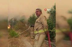 Orman yangını şehidinin son görüntüleri paylaşıldı