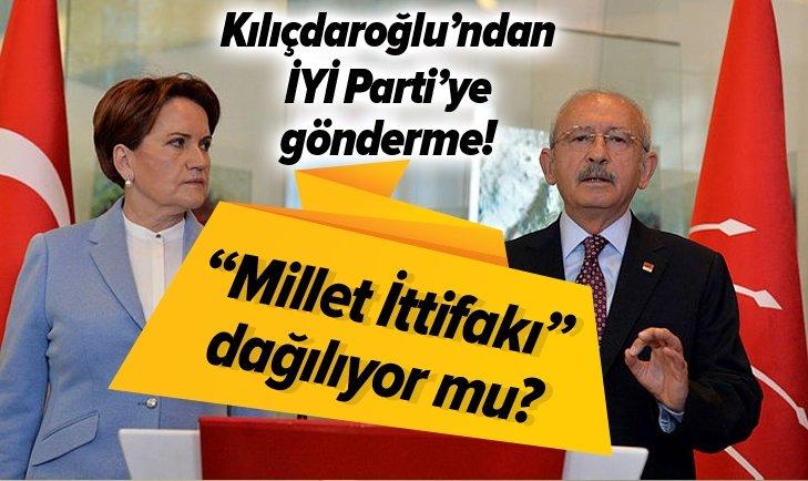 """KILIÇDAROĞLU'NDAN İYİ PARTİ'YE GÖNDERME! """"MİLLET İTTİFAKI"""" DAĞILIYOR MU?"""